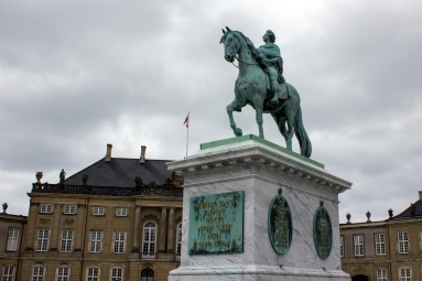 The equestrian statue of King Frederik V